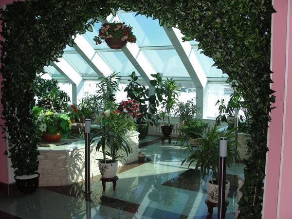 санаторий Танып, зимний сад